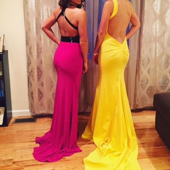 Mac Duggal Dresses | Fuschia Dress | Poshmark